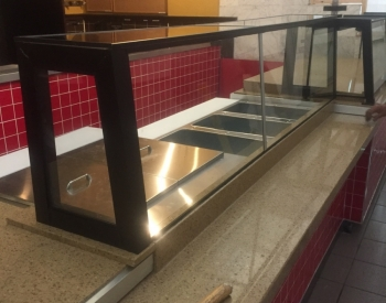 Custom Built Sneeze Guard for the Food Court at Emerald Square Mall  Attleboro, Ma